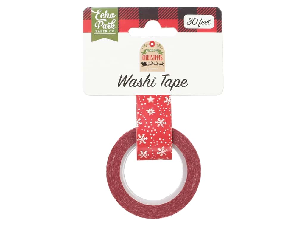 Echo Park Collection My Favorite Christmas Washi Tape Jolly Snowflake