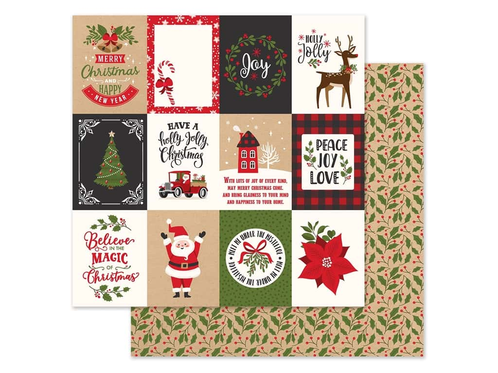 Echo Park Collection My Favorite Christmas Paper 12 in. x 12 in. Journaling Cards 3 in. x 4 in. (25 pieces)