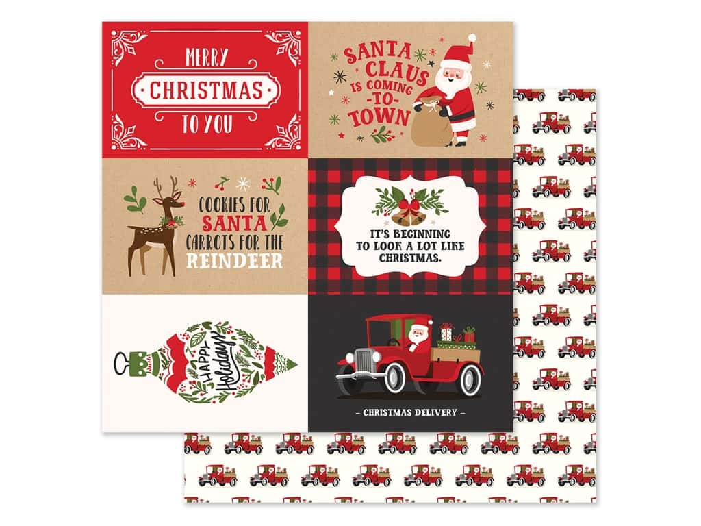 Echo Park Collection My Favorite Christmas Paper 12 in. x 12 in. Journaling Cards 4 in. x 6 in. (25 pieces)
