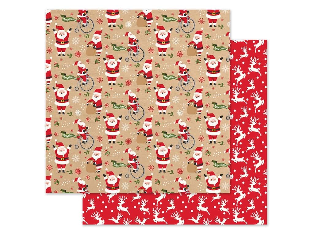 Echo Park Collection My Favorite Christmas Paper 12 in. x 12 in. Jolly Santa (25 pieces)