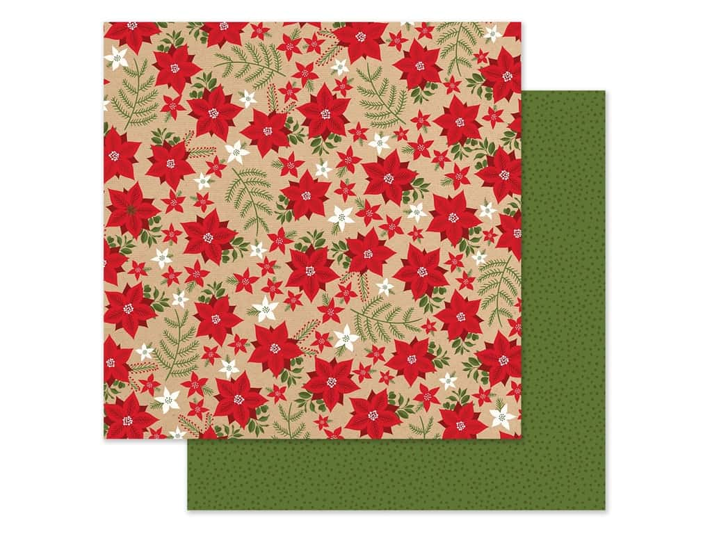 Echo Park Collection My Favorite Christmas Paper 12 in. x 12 in. Holiday Floral (25 pieces)