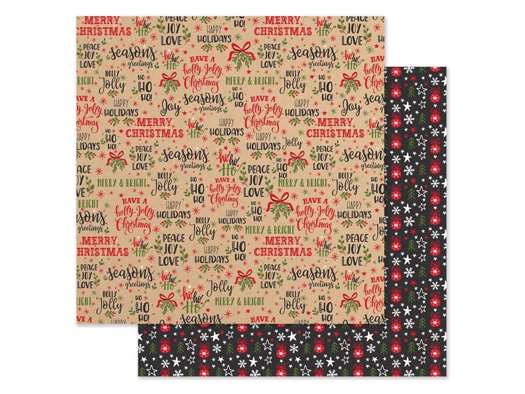 Echo Park Collection My Favorite Christmas Paper 12 in. x 12 in. Season's Greetings (25 pieces)