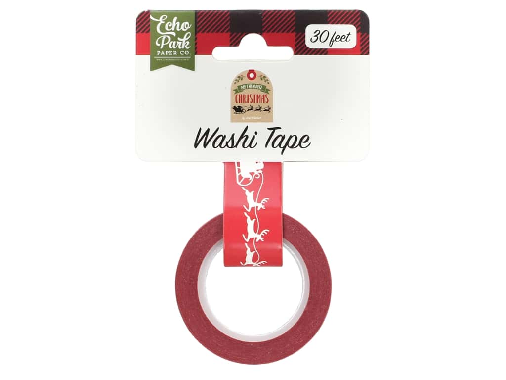 Echo Park Collection My Favorite Christmas Washi Tape Sleigh Ride