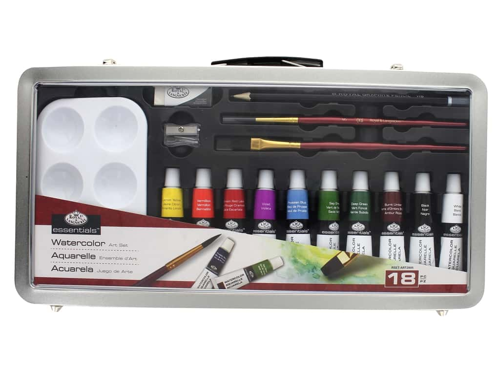 Royal Set Art Metal Case Watercolor Paint 18 pc