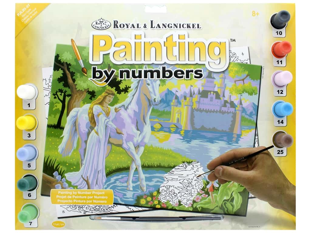 Royal Paint By Number Junior Large Fairy Castle