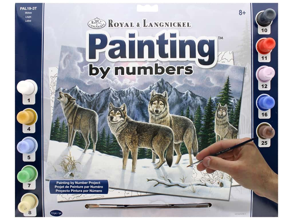 Royal Paint By Number Adult Large Wolves