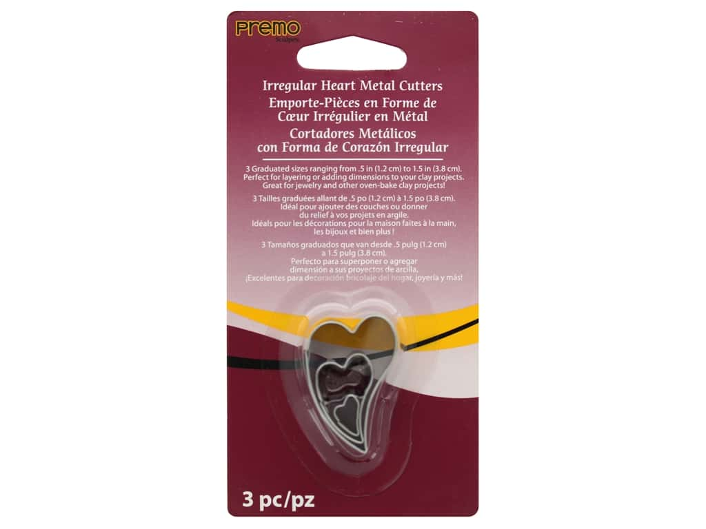 Premo Metal Cutter Set Heart 3 pc