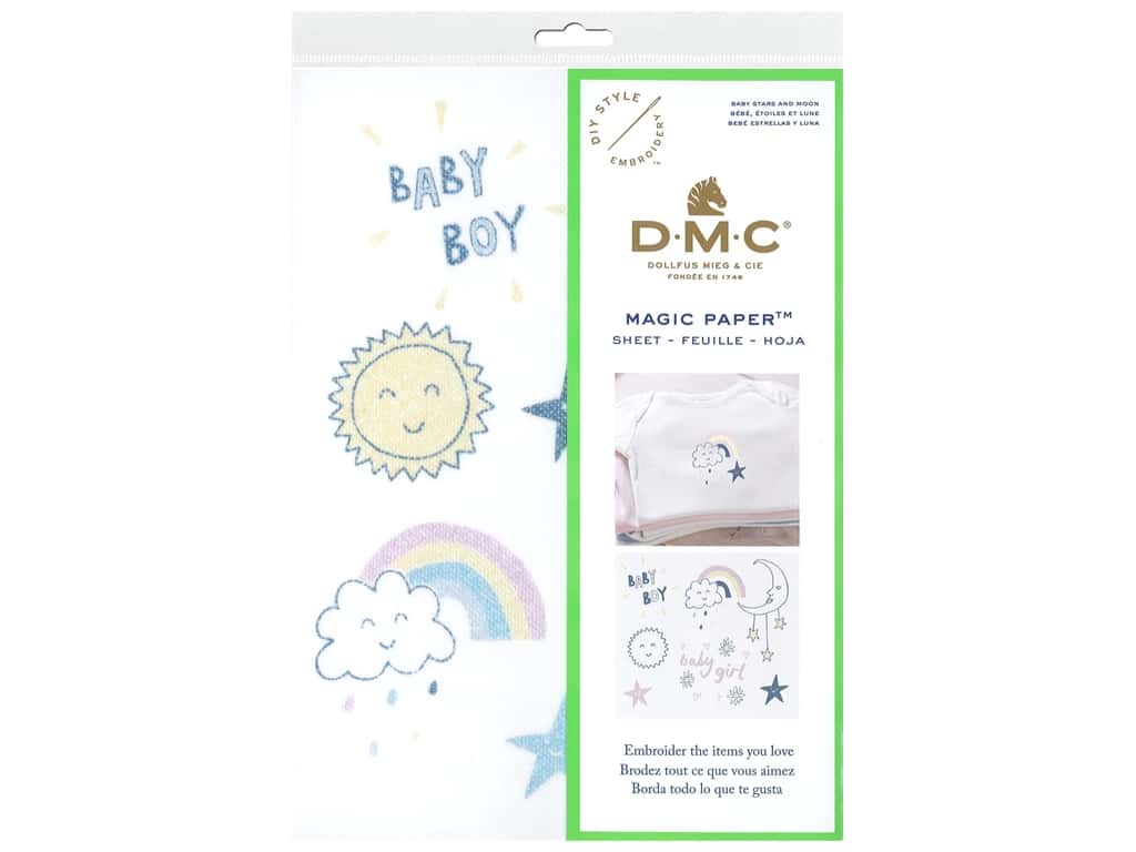 DMC Magic Paper Embroidery Baby Stars & Moon 1 pc (3 pieces)