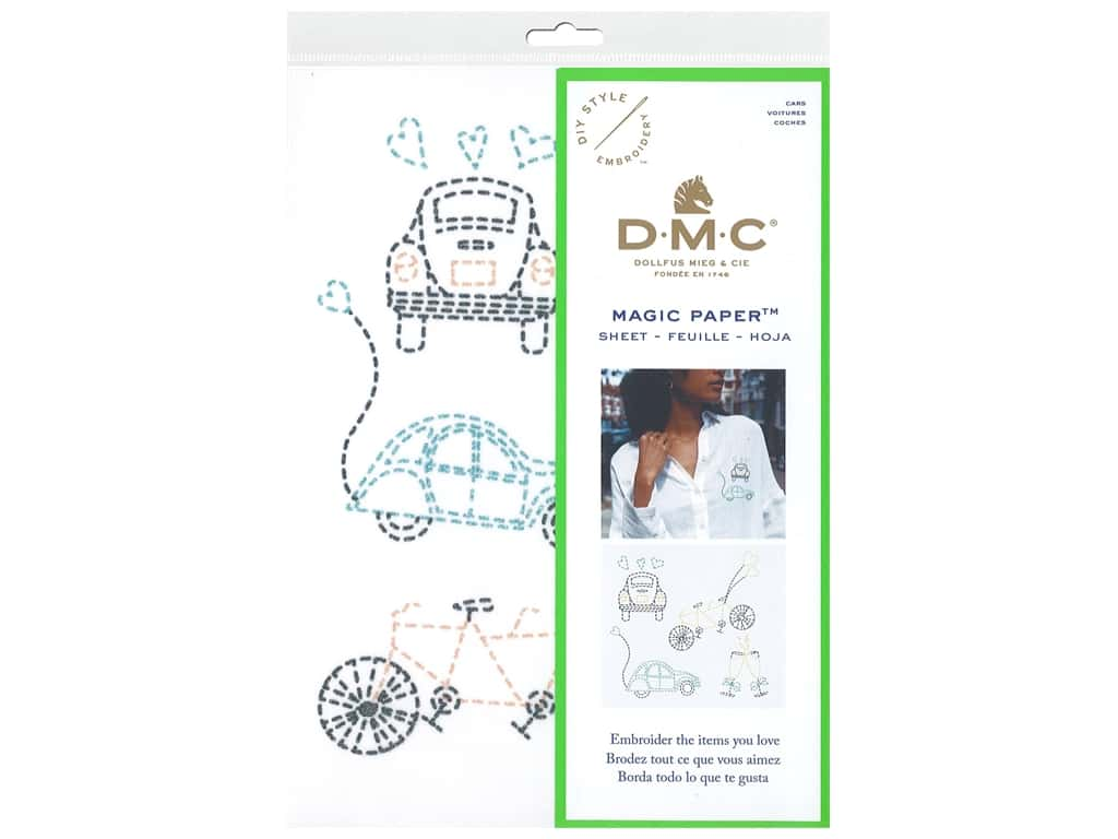 DMC Magic Paper Embroidery Cars 1 pc (3 pieces)
