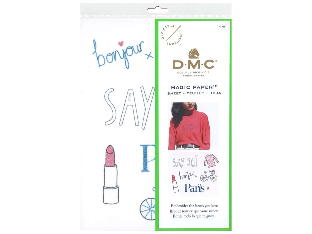 DMC Magic Paper Embroidery Paris 1 pc (3 pieces)