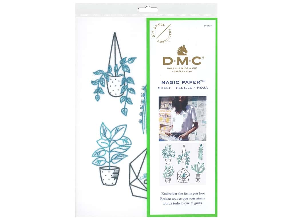 DMC Magic Paper Embroidery Cactus 1 pc (3 pieces)