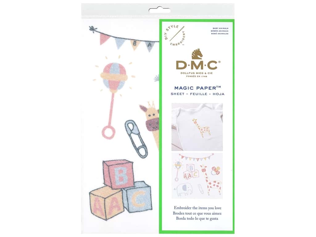 DMC Magic Paper Embroidery Baby Animals 1 pc (3 pieces)