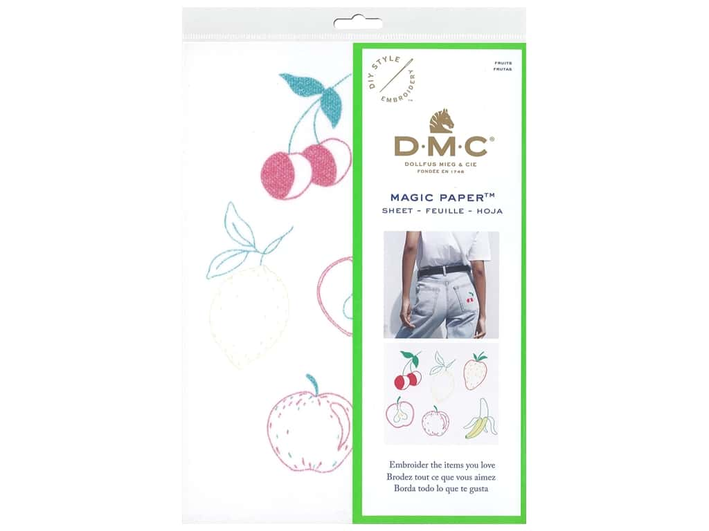 DMC Magic Paper Embroidery Fruits 1 pc (3 pieces)