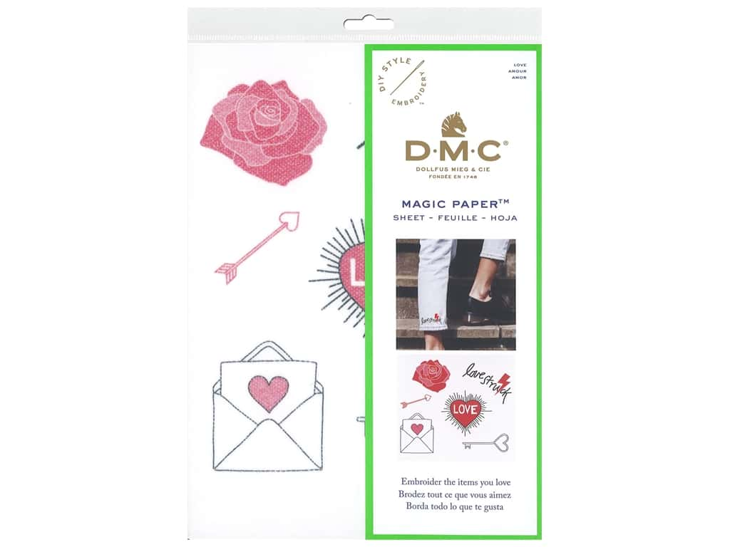 DMC Magic Paper Embroidery Love 1 pc (3 pieces)