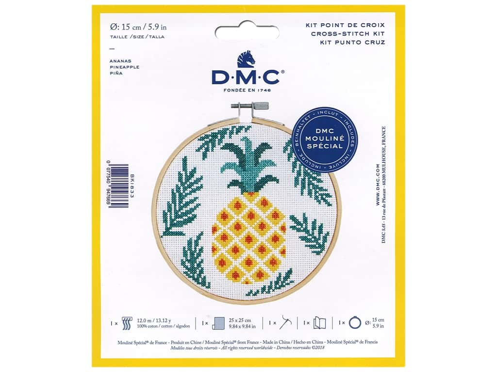 DMC Counted Cross Stitch Kit Pineapple