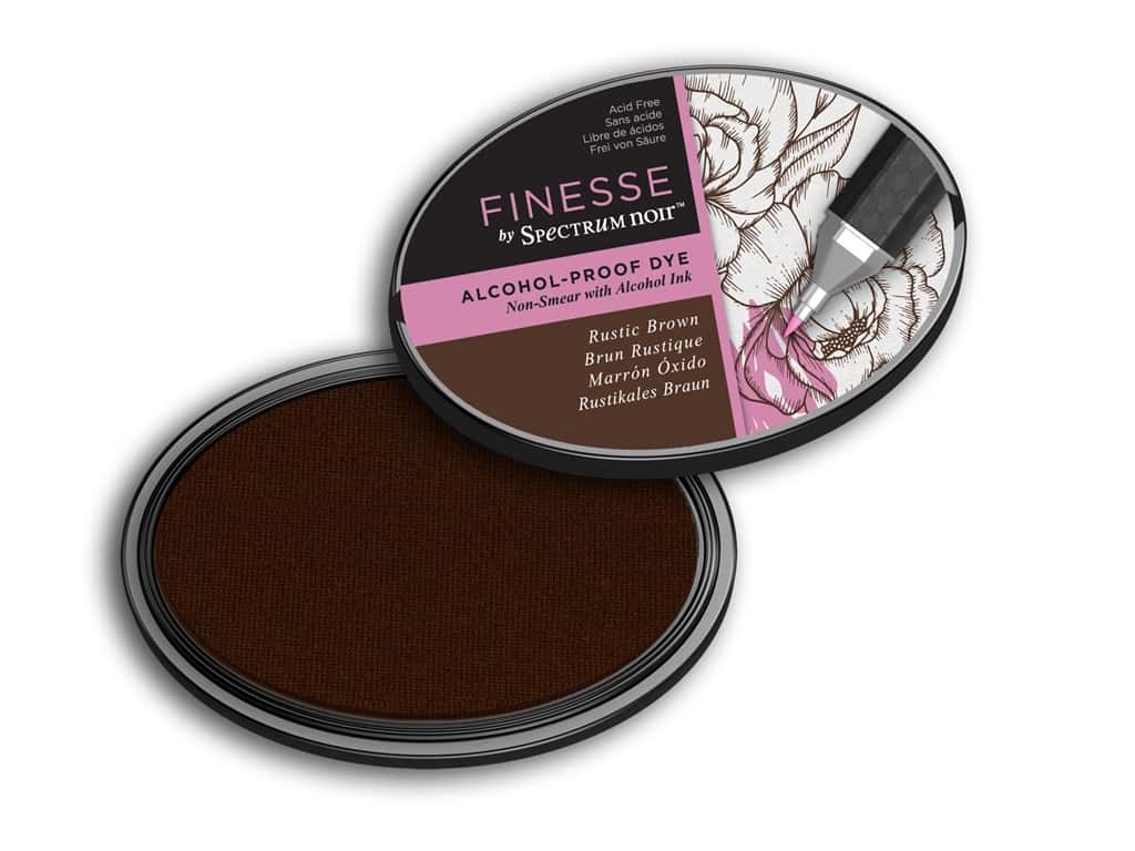 Crafter's Companion Spectrum Noir Finesse Alcohol Proof Ink Pad Brown
