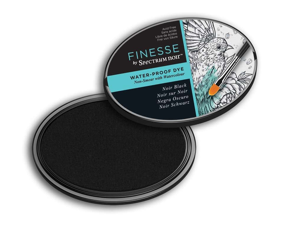 Crafter's Companion Spectrum Noir Finesse Waterproof Ink Pad Black