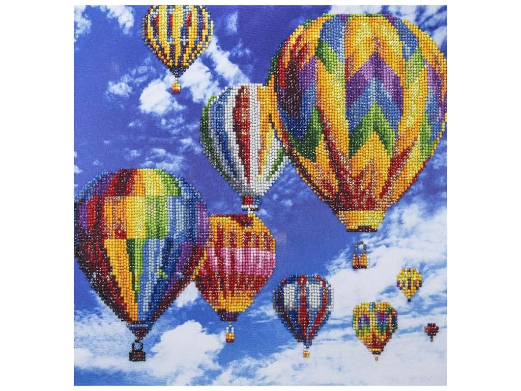 Diamond Art Kit 14 in. x 16 in. Advanced Balloon