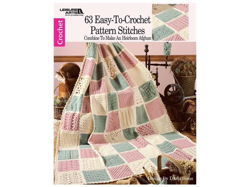 Leisure Arts 63 Easy To Crochet Pattern Stitches Book