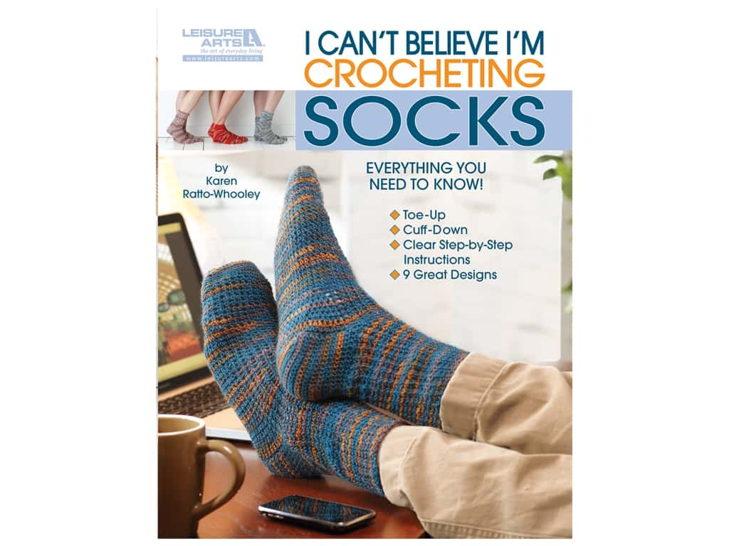 Leisure Arts I Can't Believe I'm Crocheting Socks Book