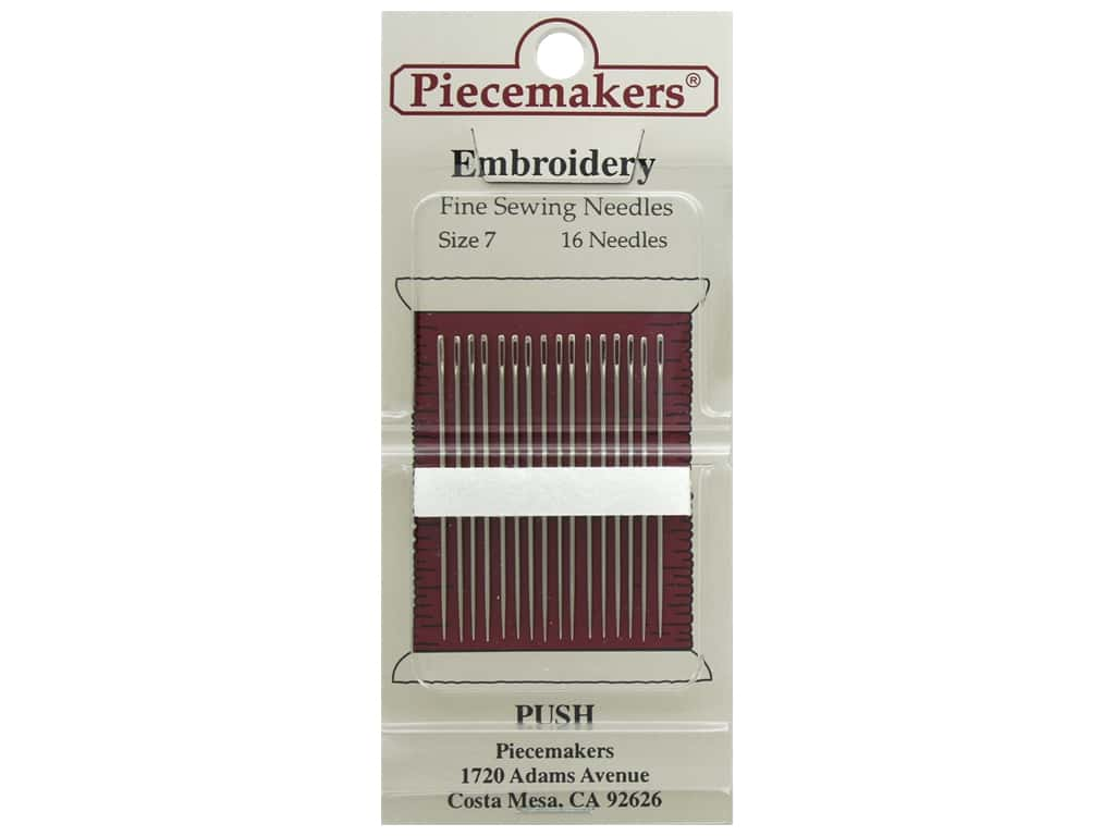 Piecemakers Needles Embroidery Size 7 26 pc (3 packages)