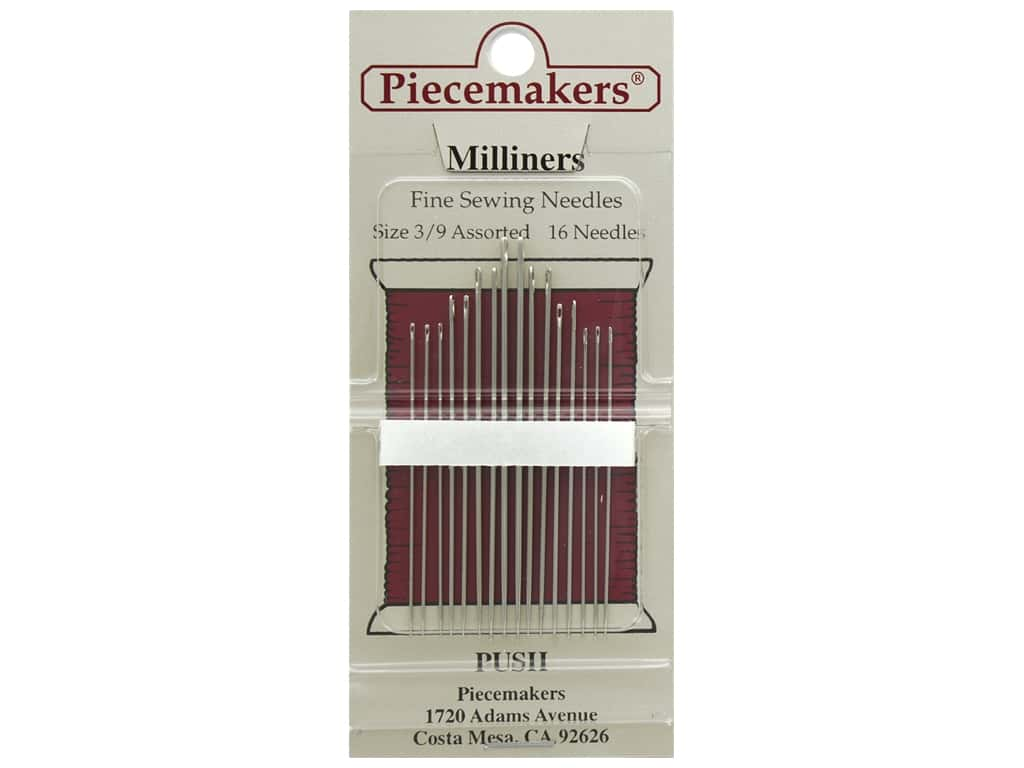 Piecemakers Needles Milliner's Size 3/9 16 pc (3 packages)
