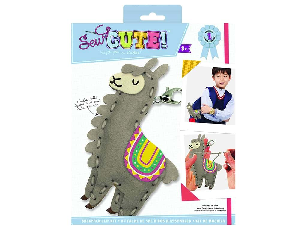 Colorbok Sew Cute! Backpack Clip Kit - Llama