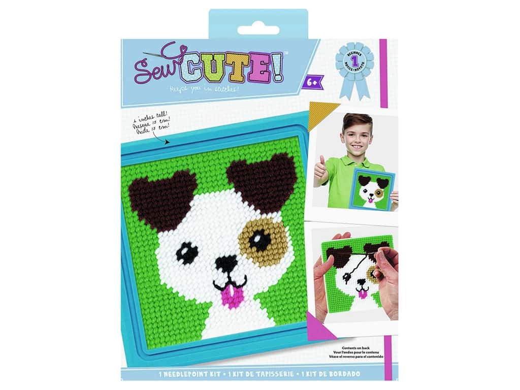 Colorbok Kit Sew Cute Needlepoint Jack Dog