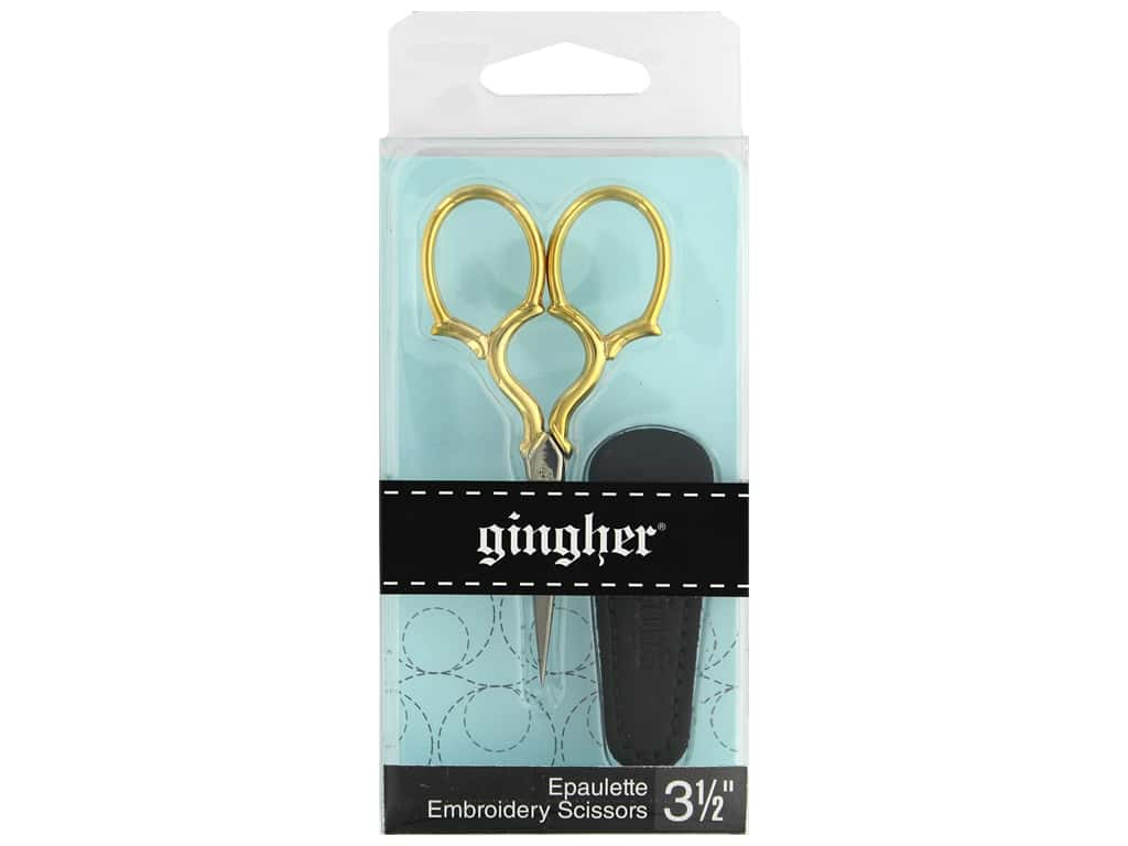 Gingher 3 1/2 in. Epaulette Embroidery Scissors