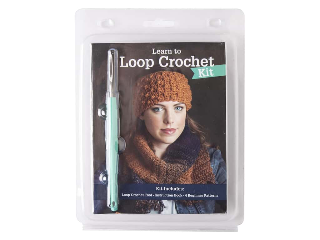 Leisure Arts Learn To Loop Crochet Kit With Book