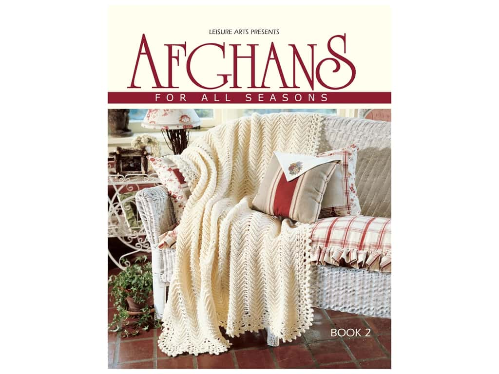 Leisure Arts Afghans For All Seasons #2 Crochet Book