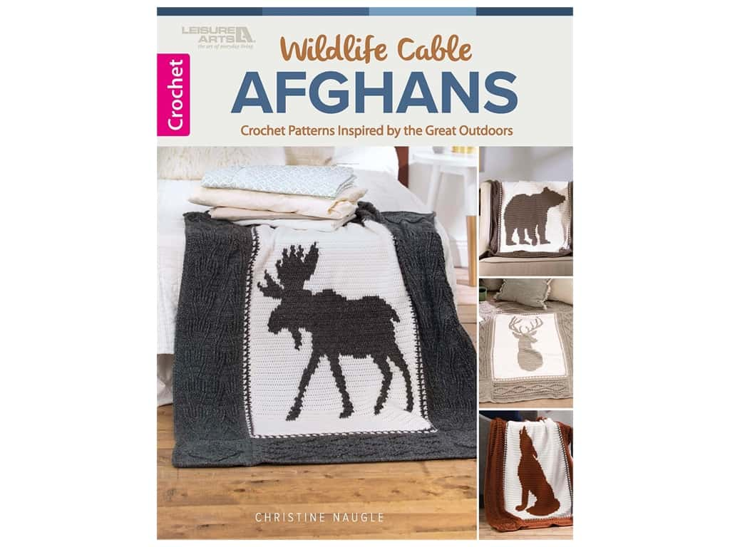 Leisure Arts Wildlife Cable Afghans Book