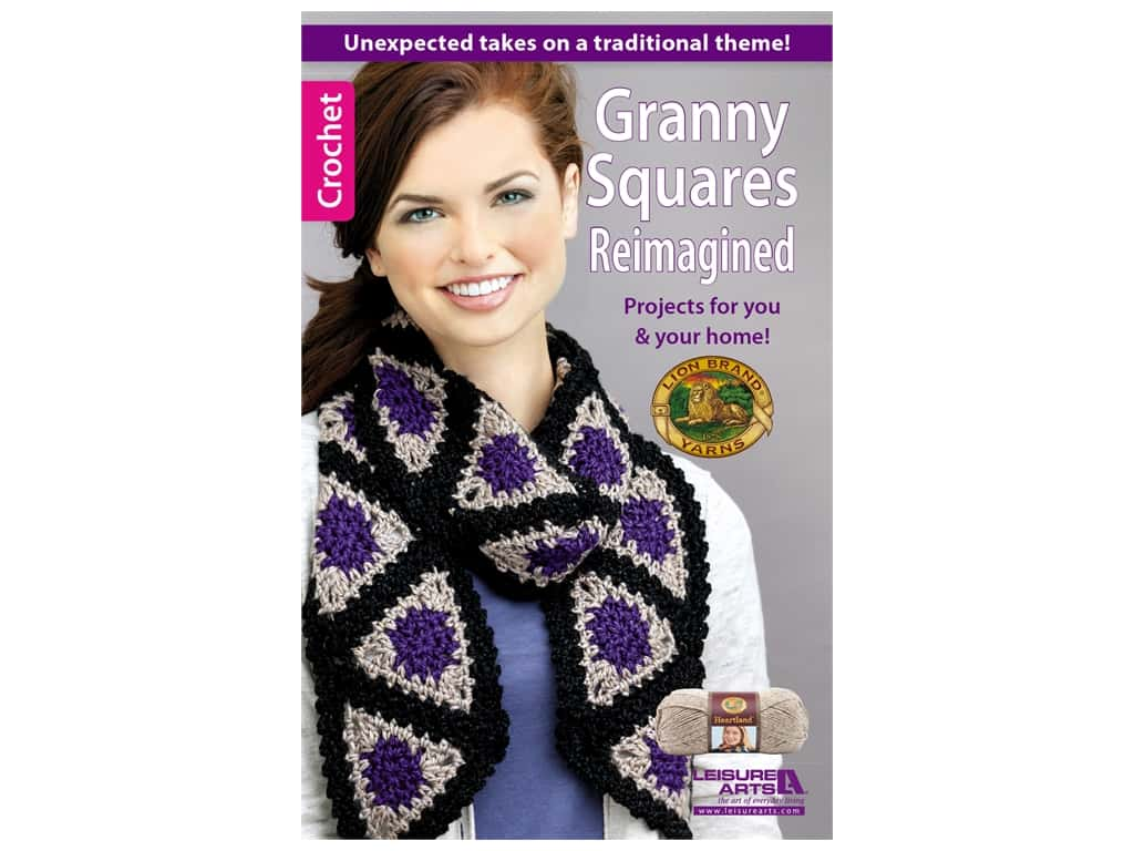Leisure Arts Granny Squares Reimagined Book