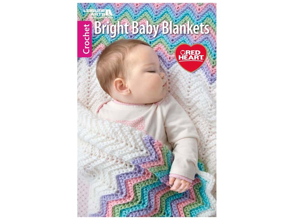 Leisure Arts Bright Baby Blankets Crochet Book