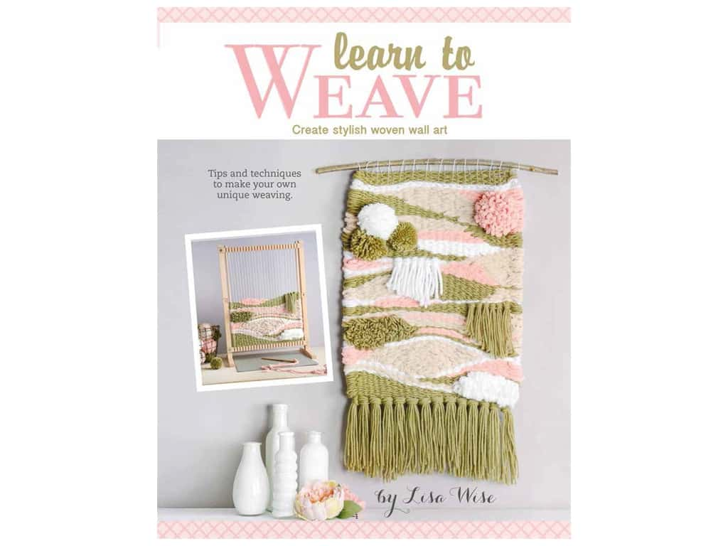 Leisure Arts Learn To Weave Laminated Card