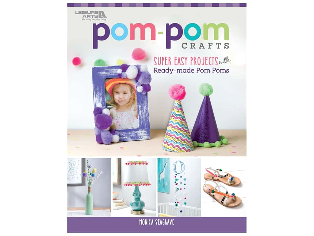 Leisure Arts Pom Pom Crafts Book