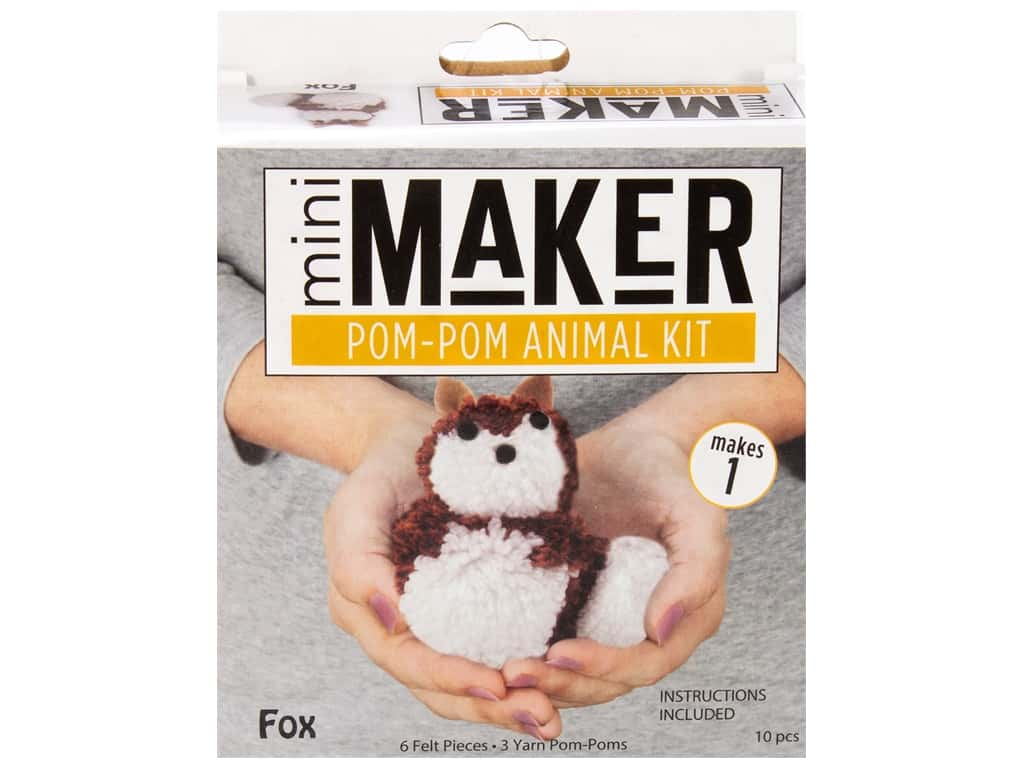 Leisure Arts Mini Maker Kit Pom Pom Fox