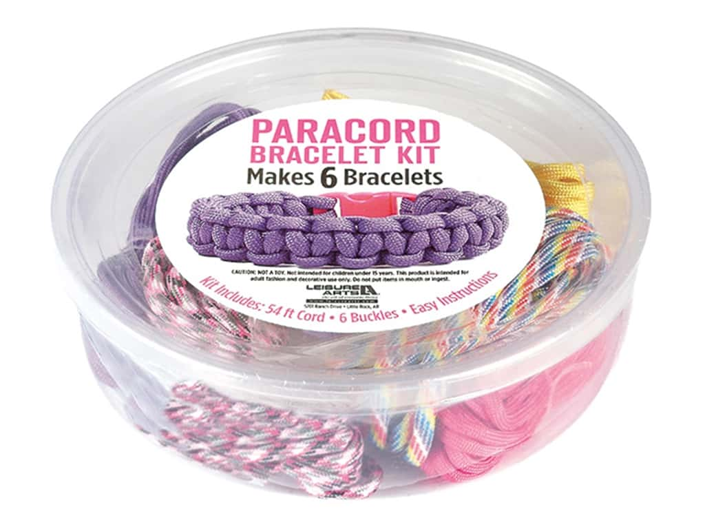 Leisure Arts Kit Paracord Bracelet Girl
