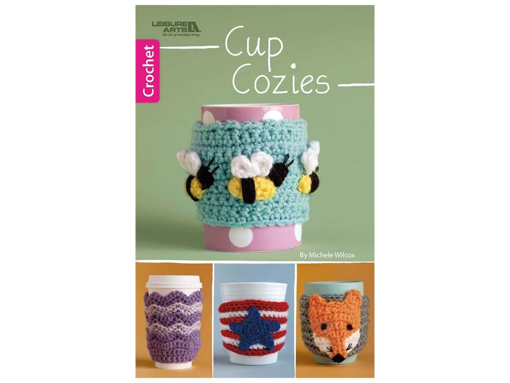 Leisure Arts Cup Cozies Crochet Book
