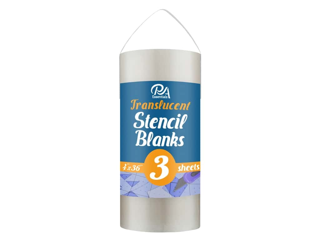 PA Essentials Stencil 4 in. x 36 in. Uncut Blank Translucent 3 pc