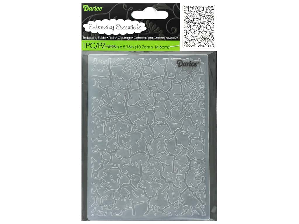 Darice Embossing Folder Crackle
