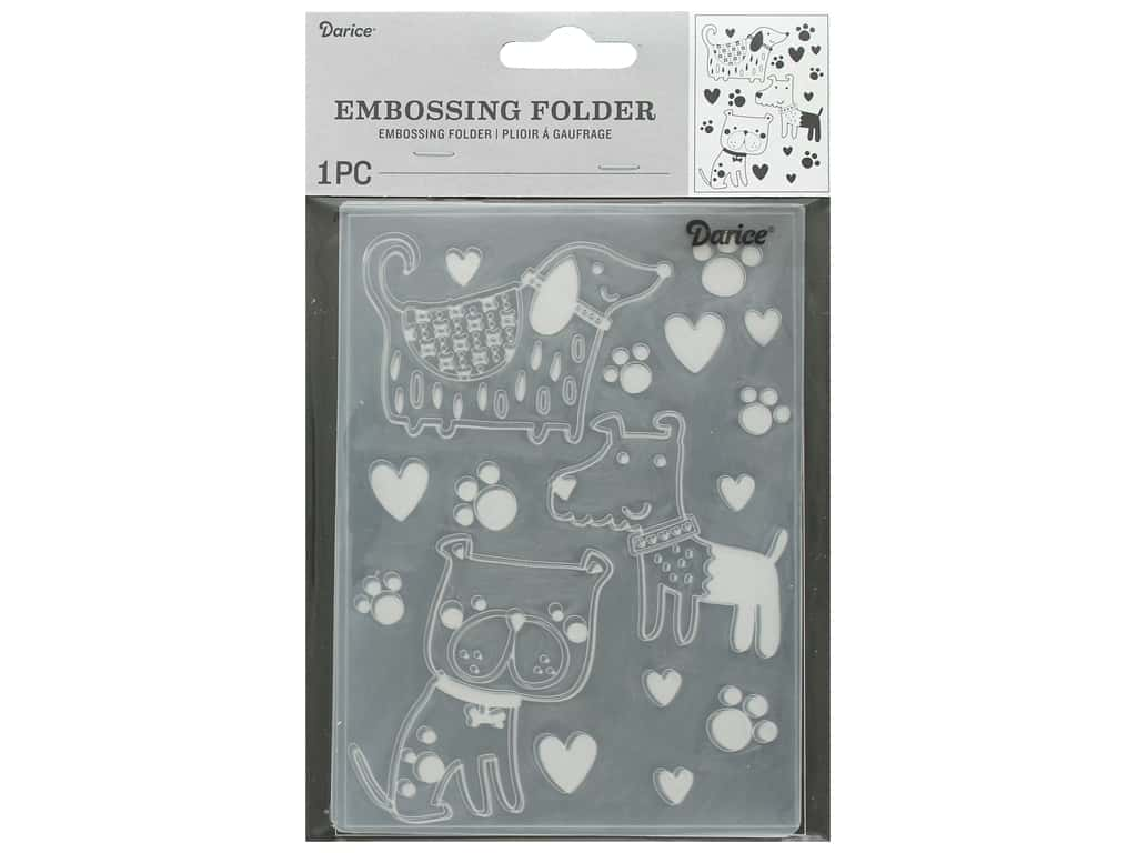 Darice Embossing Folder Dogs