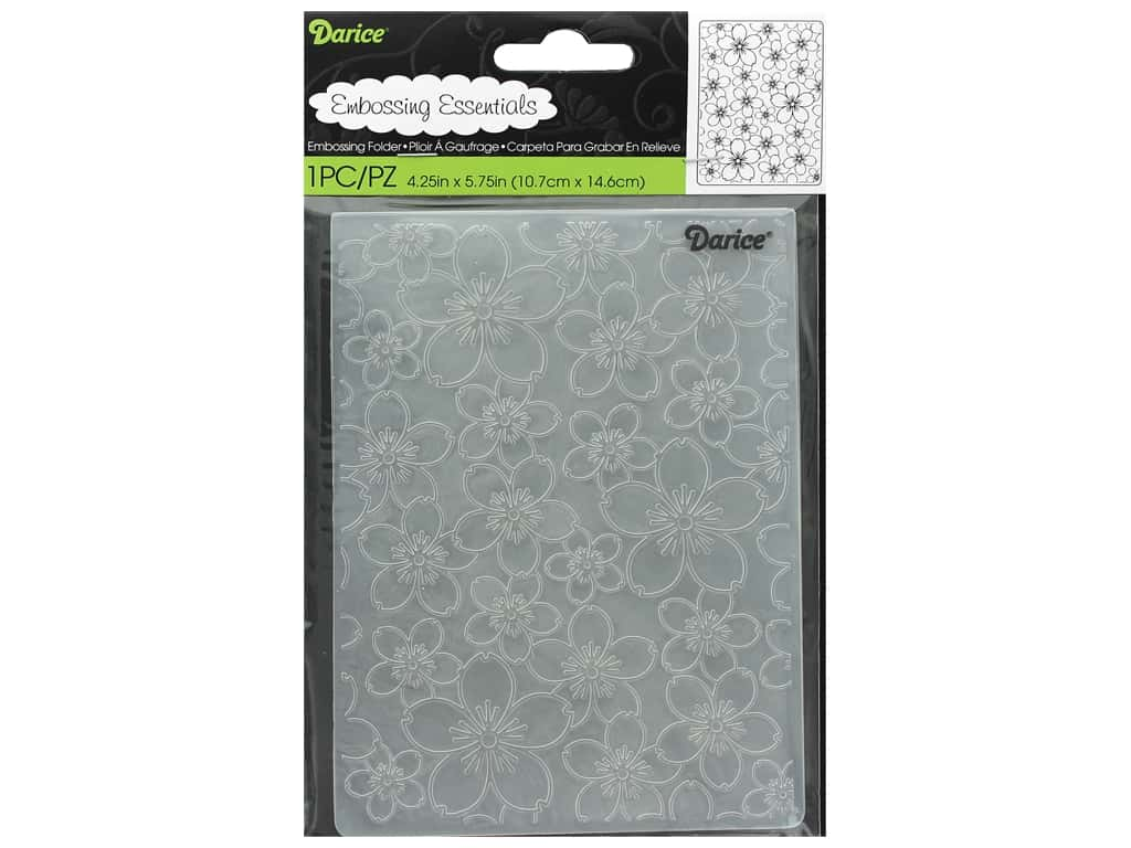Darice Embossing Folder Cherry Blossom