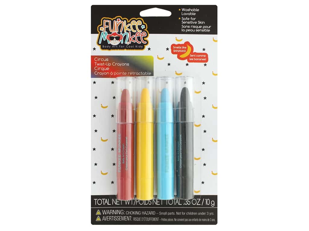 Funkee Munkee Twist Up Crayons Circus 4 pc