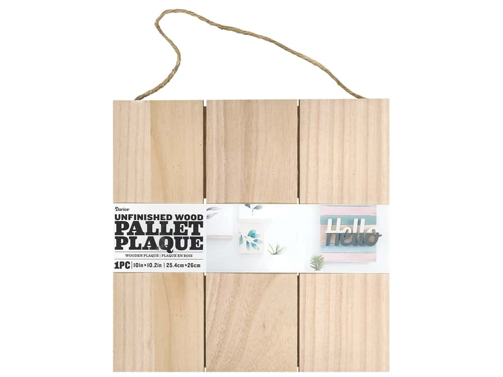 Darice Wood Unfinished Pallet 10 in. x 10 in.
