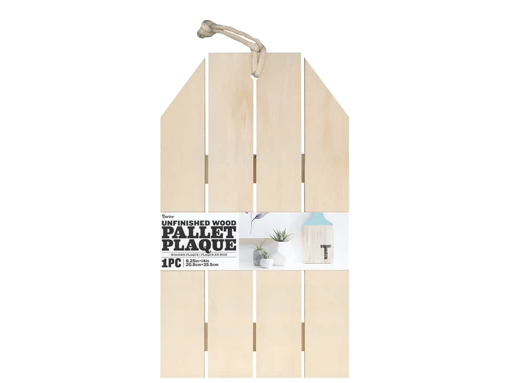 Darice Wood Unfinished Pallet Plaque 8.25 in. x 14 in.