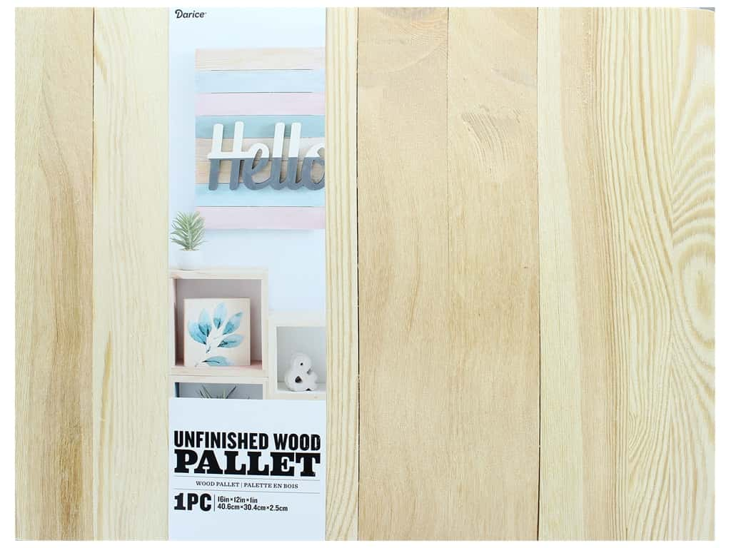 Darice Wood Unfinished Pallet 16 in. x 12 in.