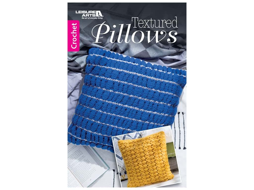 Leisure Arts Textured Pillows Crochet Book