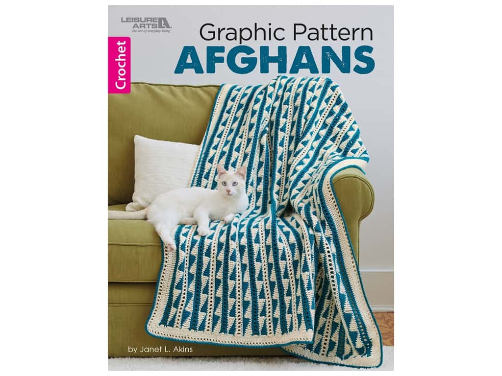 Graphic Pattern Afghans Crochet Book