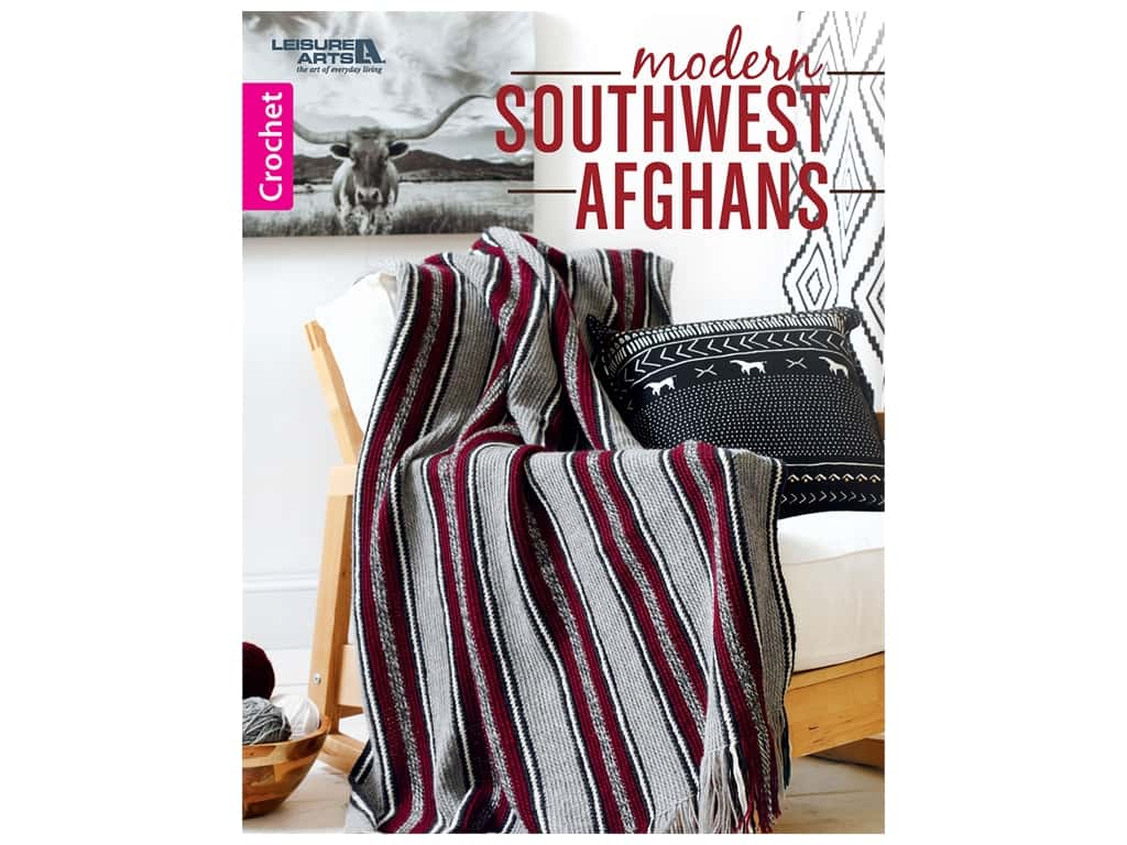 Leisure Arts Modern Southwest Afghans Book
